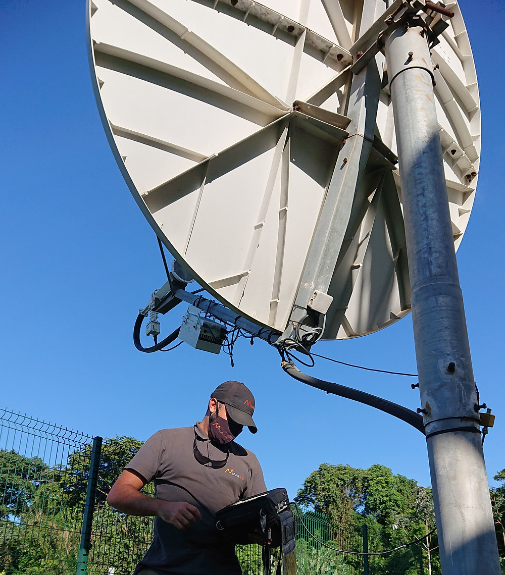 Marlink's fully managed network solution provides Internet access via satellite in challenging local conditions.