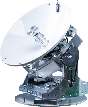 C4 – 45cm sized 4 axis stabilized compact VSAT Terminal (Source: KNS)