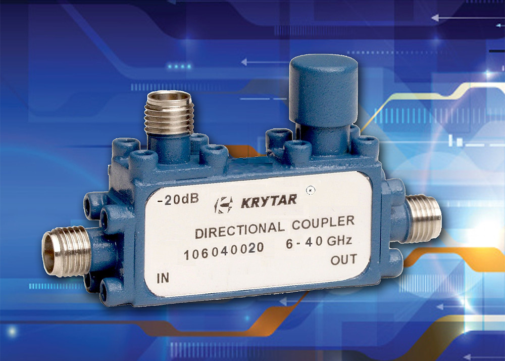 KRYTAR announces a new, compact, directional coupler with 20 dB coupling over the ultra-wideband frequency range of 6 to 40 GHz