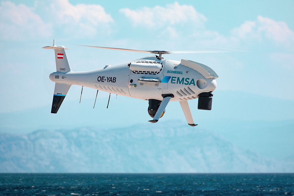 Schiebel camcopter S-100 to perform coast guard servies for European Maritime Safety Agency in Finland
