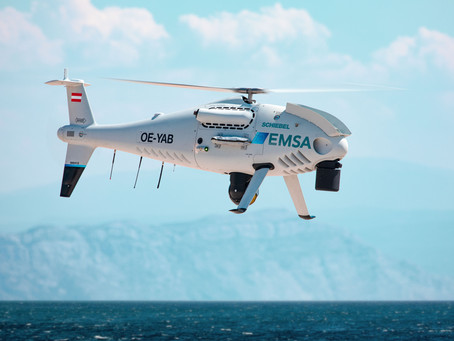 Schiebel camcopter S-100 to perform coast guard servies for European Maritime Safety Agency in Finla