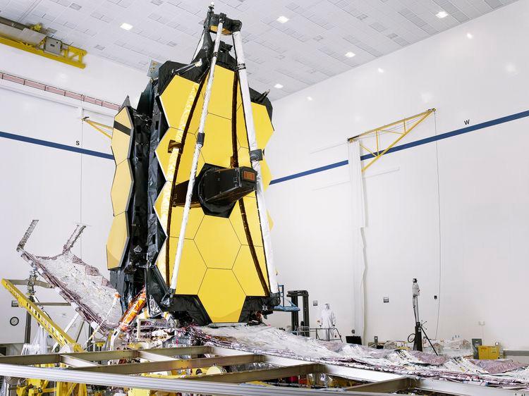 NASA's James Webb Space Telescope fully assembled at Northrop Grumman in Redondo Beach, Calif. Photo credit: NASA/Chris Gunn