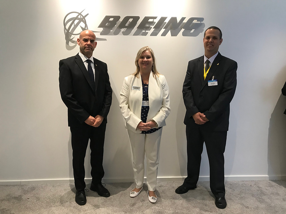 Mr. David Vidan, Elbit Systems – Cyclone GM, Ms. Maria Laine, Boeing Defense, Space and Security VP International Strategic Partnerships and Mr. Eitan Cohen, Elbit Systems – Cyclone VP Strategy and Business Development