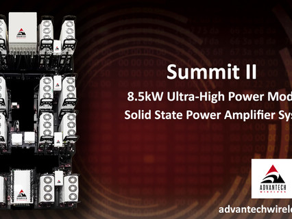 Advantech Wireless Technologies delivers new state-of-the-art ultra-high power SSPA system