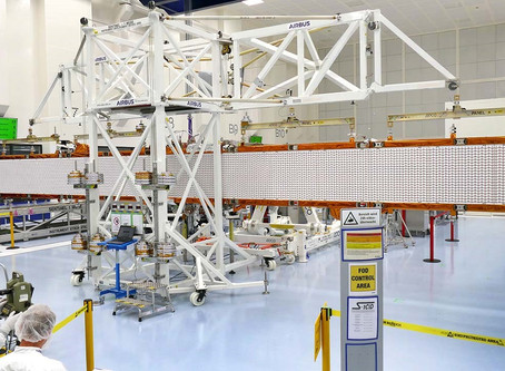 Airbus sees Sentinel-1C radar antenna spread its wings for the first time
