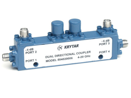 KRYTAR announces new dual-directional coupler offers 6 dB coupling over 4 to 20 GHz frequency range