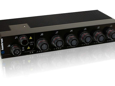 Kontron CERES-2402-PTP rugged Ethernet switch for defence networks