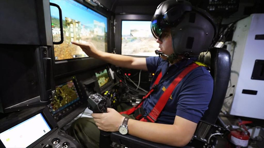 Elbit Systems demonstrates an innovative armoured fighting vehicle operated by a helmet mounted display