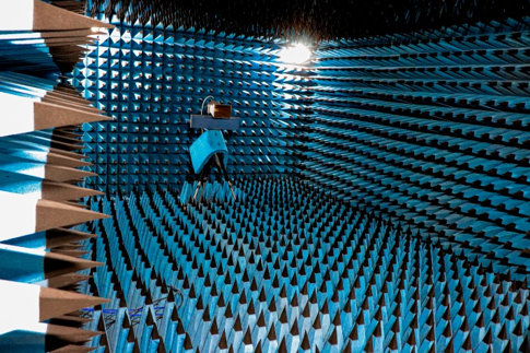 Anechoic chamber at Kepler's manufacturing facilities.