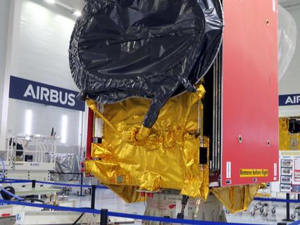 Airbus built EUTELSAT QUANTUM satellite shipped to launch site