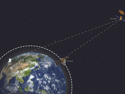 World-first real-time link between satellites proves faster delivery of data and imagery worldwide