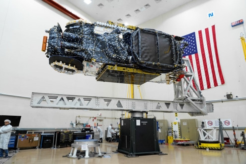 Intelsat 39 undergoes testing in Maxar's Palo Alto, California manufacturing facility. Photo: Maxar