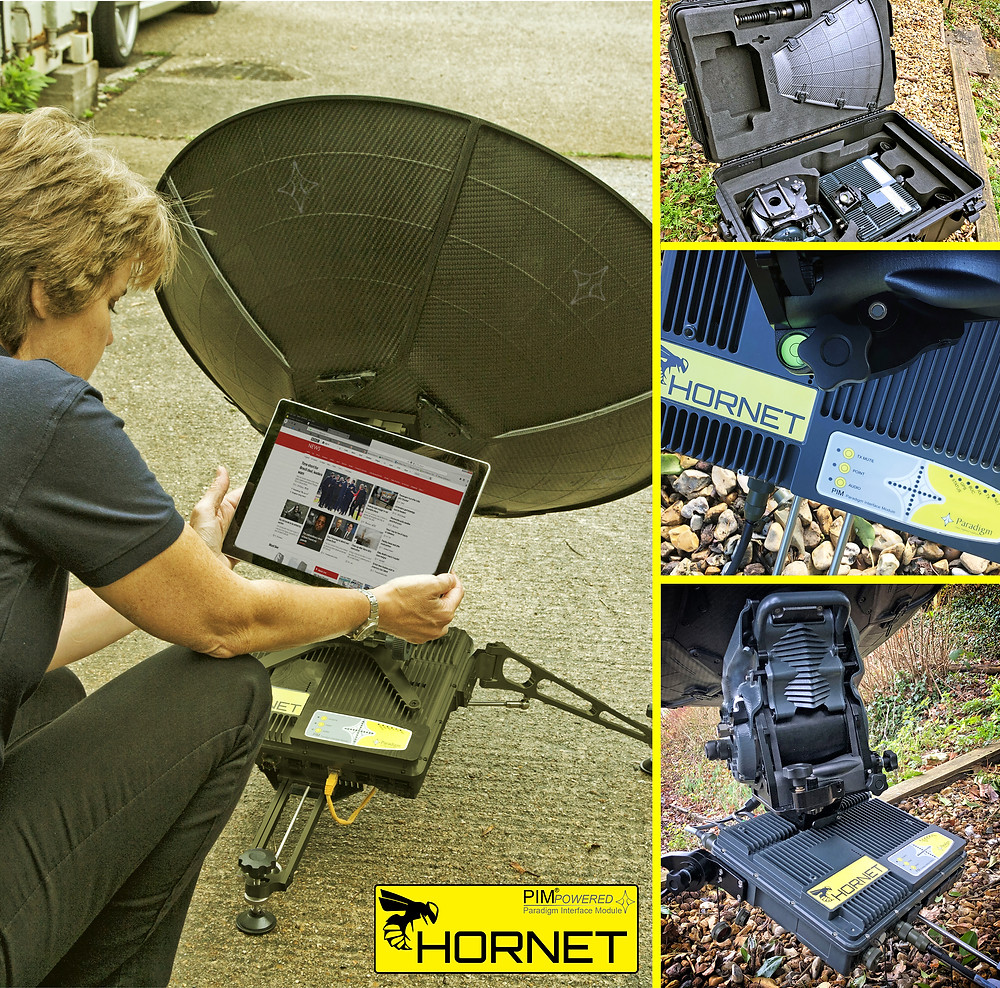 The Hornet state of the art modular terminal - a rugged interchangeable multiband solution powered by the PIM