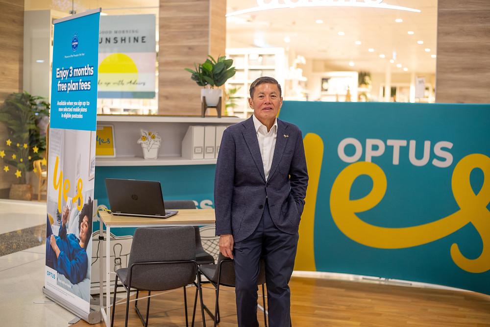 Optus CEO Allen Lew visiting Rockhampton