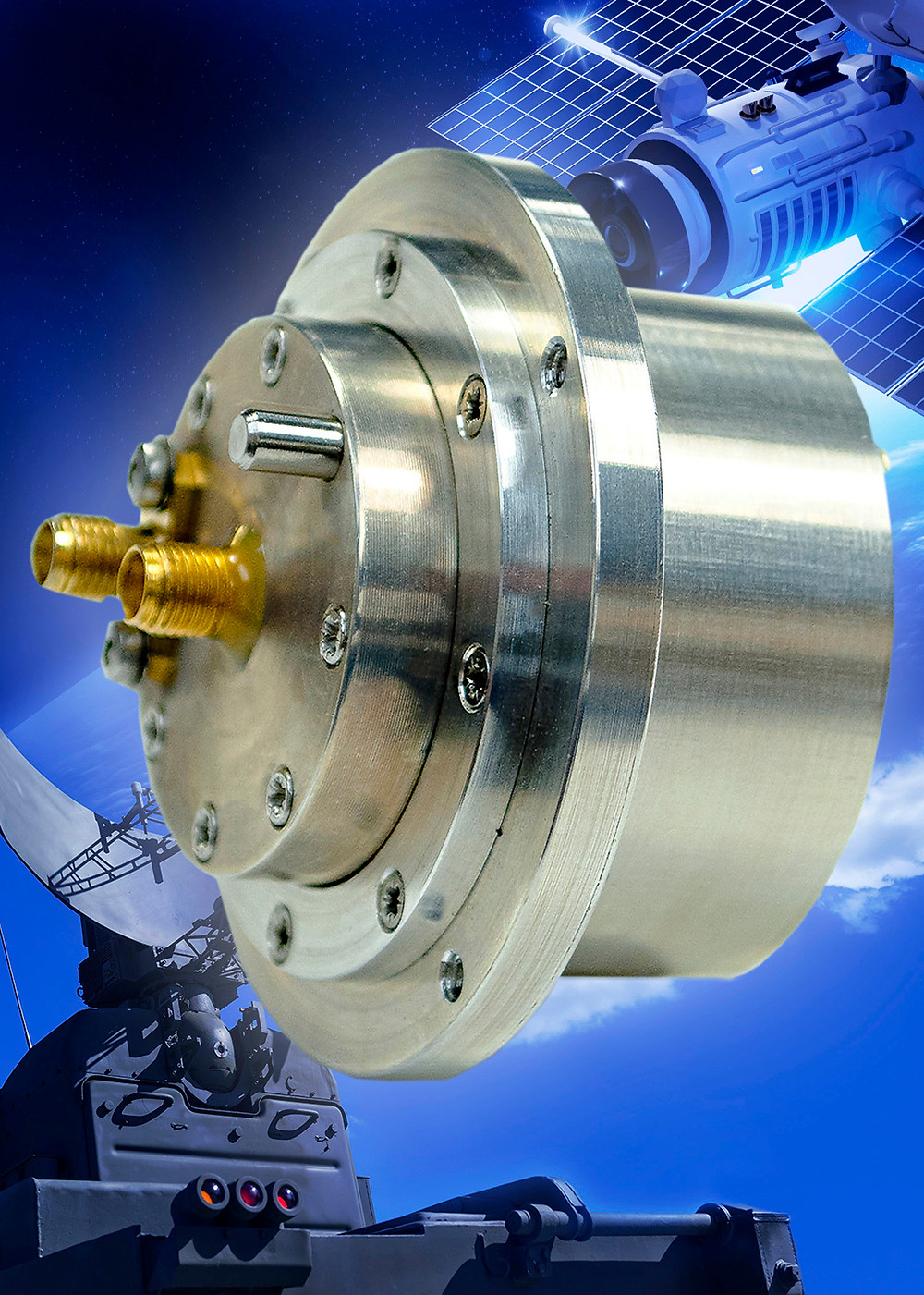 New dual-channel Ku-band rotary joint is ideal for satellite-on-the-move and radar applications