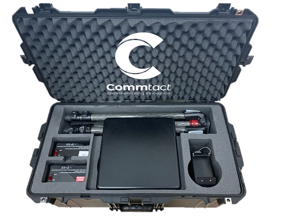 Commtact unveils a portable, lightweight communications kit, that enables rapid and easy deployment in the field