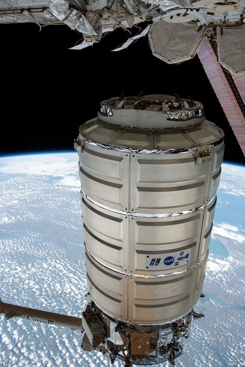 The S.S. Roger Chaffee Cygnus spacecraft successfully departed from the International Space Station on Aug. 6 to begin the second phase of the NG-11 mission. Credit: NASA.