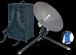 C-COM iNetVu® Motorized Manpack Antenna System