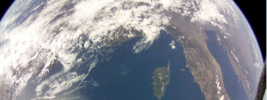 Image of the Mediterranean acquired by commercial grade Raspberry Pi camera on board DoT-1 satellite on 19 August 2019