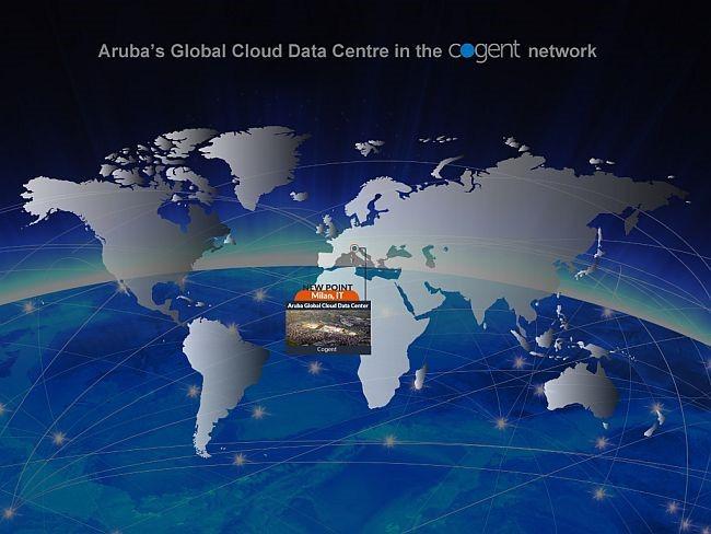Aruba's Global Cloud Data Center enhances international accessibility with Cogent PoP