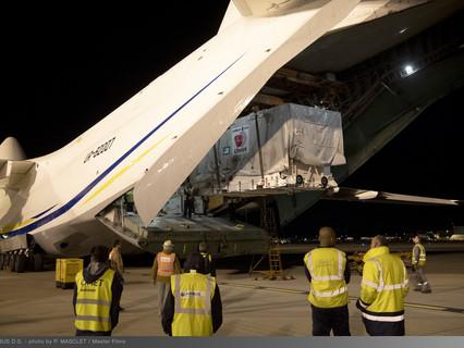 Airbus built CHEOPS satellite flies to Guiana
