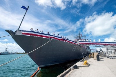U.S. Navy commissions littoral combat ship LCS15 from Lockheed Martin
