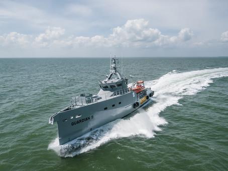Latest Damen FCS 3307 patrol vessels for homeland integrated offshore services limited arrive in Nig