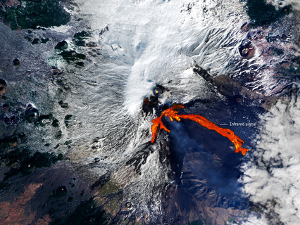 ESA's Copernicus captures the eruption of Mount Etna