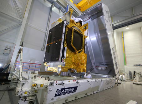Airbus Defence and Space ships ANASIS-II telecommunications satellite to launch site
