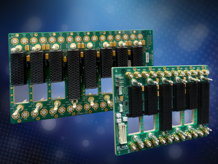 Latest SOSA aligned backplanes from Elma feature 6 or 8 slots, each with 25 GB throughput