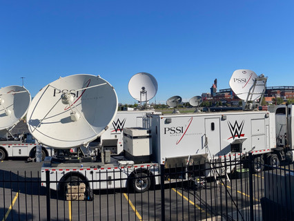 PSSI builds dual-dish CK27 transmission vehicle to support WWE's evolving transmission needs