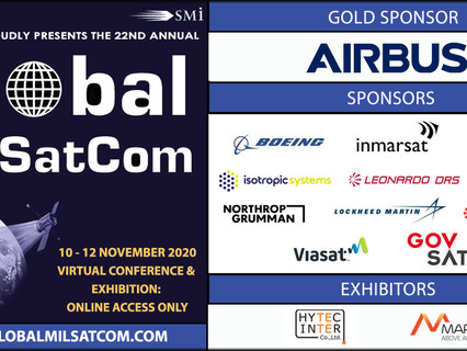 Just 2 weeks to go until SMi Group's 22nd annual global MilSatCom virtual conference & exhibition