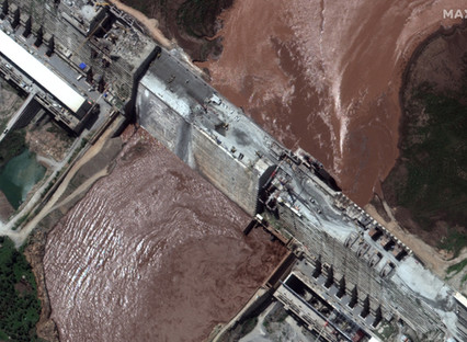 Satellite imagery: Grand Ethiopian Renaissance Dam's new reservoir is starting to fill