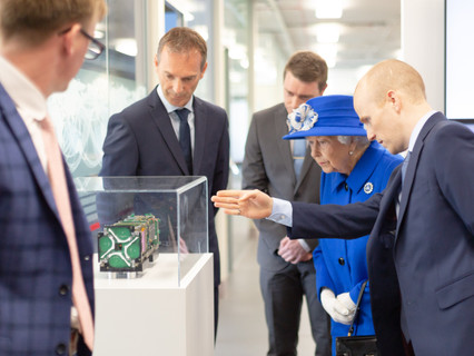 Her Majesty The Queen and HRH The Princess Royal visit Spire's Glasgow facility