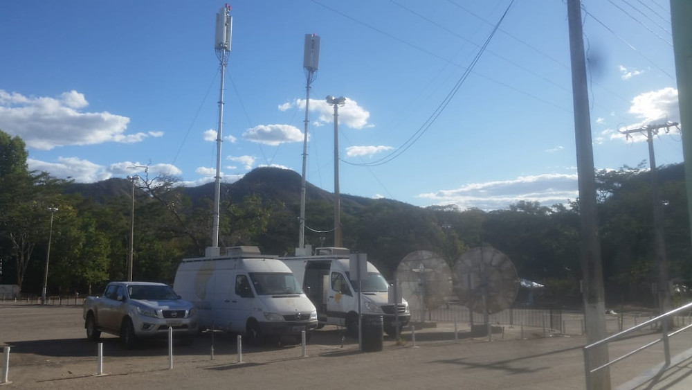 Largescale MACRO - mobile cellular backhaul over satellite, at famous Brazilian festival, made possible by SpaceBridge