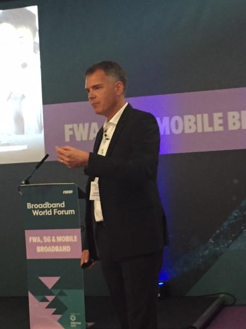 Bo Dines Larsen, Regional VP of Solutions Engineering at Calix at the BASe workshop preceding Broadband World Forum (BBWF) in Amsterdam