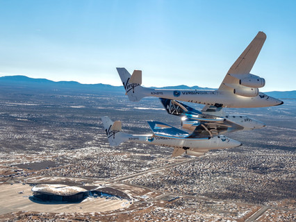 Virgin Galactic welcomes SpaceShipTwo unity to spaceport America, New Mexico