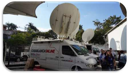 Based on Newtec Dialog, SES's OU Flex solution was integrated into Casablanca Online's existing Satellite News Gathering (SNG) trucks, pictured above