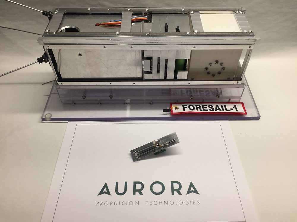 """Aurora Propulsion Technologies delivers its' first """"Aurora Resistojet One"""", the world's first micro-resistojet thruster"""