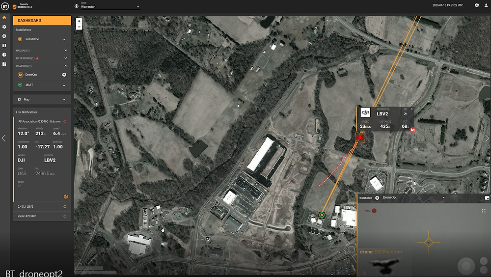 DroneShield releases DroneOptIDTM camera based software for drone detection, identification and tracking