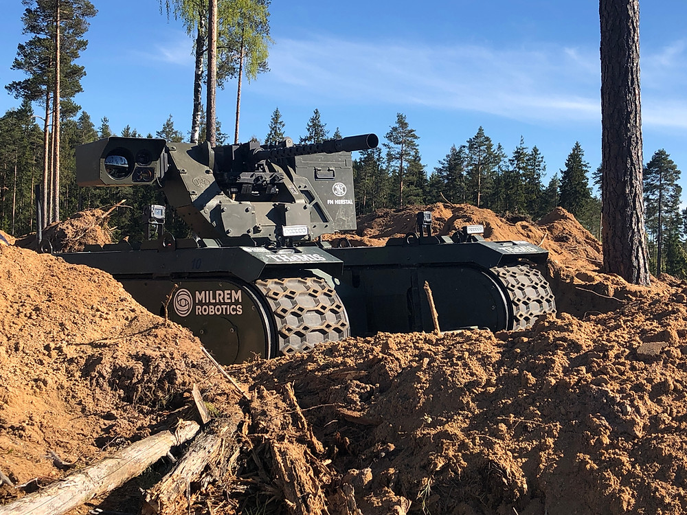 FN Herstal and Milrem Robotics deploy weaponized UGV at Estonian military exercise