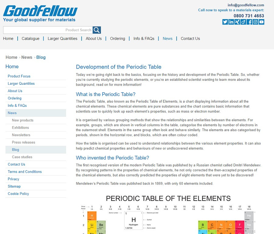 Goodfellow launches new info resource with blog