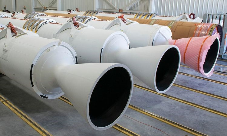 Northrop Grumman delivered its GEM 63 rocket motors from Magna, Utah to Florida for United Launch Alliance's Atlas V