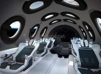 Virgin Galactic reveals SpaceShipTwo cabin interior