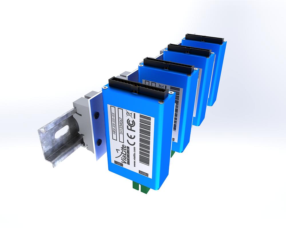 Keeping Vertical: DIN Rail Kit for ViaLite Blue OEM Modules