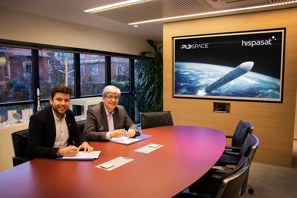 HISPASAT and PLD Space agreement to collaborate in the compatibility analysis of small satellites on board MIURA 5 rocket