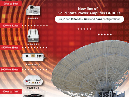 New line of solid state power amplifiers & block up converters Advantech Wireless Technologies