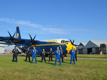 Marshall Aerospace and Defence Group sees Blue Angels' new C-130J fly home