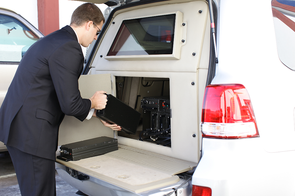 The C-Guard RJ vehicular system protecting VIP's motorcades