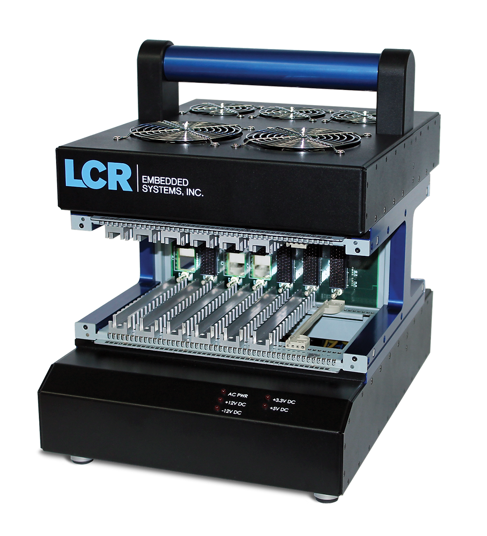VPX open frame development chassis from LCR offer unmatched configuration flexibility for fast development cycles